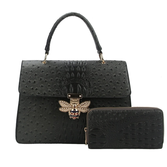 My Bag Lady Online Handbags - Queen Bee Satchel & Wallet Set